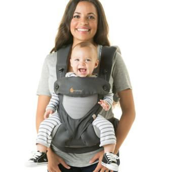 Harga Ergobaby Baby Korea Style Carrier Top Baby Sling Hipseat four style 360 baby baby sling cotton multifunction baby carrier air section- Dark Grey - intl