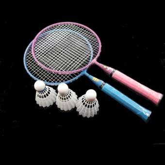 Harga Mini Badminton Set for Kids With 2 Rackets ( 3pcs badminton shuttlecock free ), Hot Outdoor Racquets for Children - intl