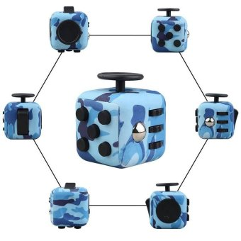 Harga New Fidget Cube Fun Children Vinyl Desk Toy Adults Stress Relief Cubes Gift - intl