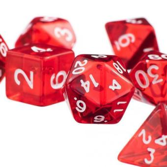 Harga BolehDeals 7Pcs Red D4 D6 D8 D10 D12 D20 Dice Set For Dungeons and Dragons Game - intl