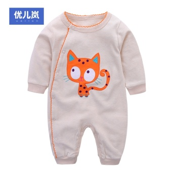 Baby leotard spring and summer dress for men and women baby thin section long-sleeved cotton climbing clothes romper newborn children clothes spring