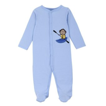 Harga Mothernest Baby Jumper (Monkey Blue)(0-3M)
