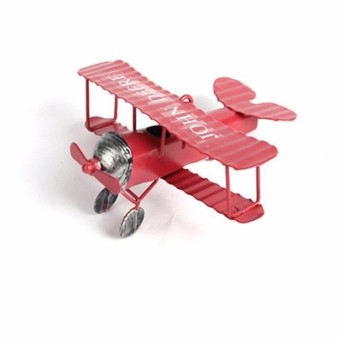 Retro Vintage Red Plane Airplane Aircraft Model Home Decoration Ornament Toy NEW - intl