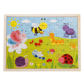 Harga 360WISH 60-Piece Insects Wooden Jigsaw Puzzle Baby Kids Children Educational Toy