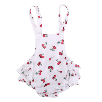 Toddler Kids Baby Girls Cherry Romper Jumpsuit Bodysuit Clothes Outfits - intl