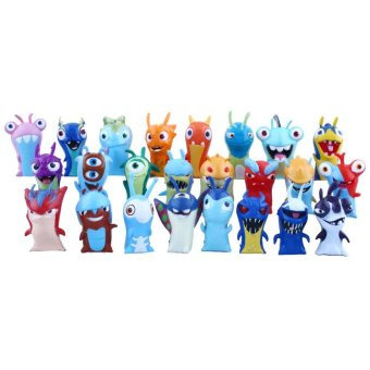 Harga 24pcs Lot Slugterra Elemental Slugs Cartoon PVC Terra Action Figure Doll - intl