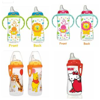 Harga NUK Soft Spout Learning Cup 300ml (Hello Kitty W Clip)