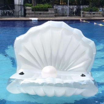 Harga Shell Pearl Scallops Floating Rideable Swimming Pool Toys - 190x150cm - intl