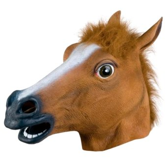 Harga Cocotina Horse Head Mask Cosplay Costume Prop Toy Brown