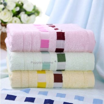 Harga Bamboo Fiber Towel Bath Face Hand New Born Baby Infant Handkerchief Blanket Gift Present Kids Boy Girl Toddler Blue