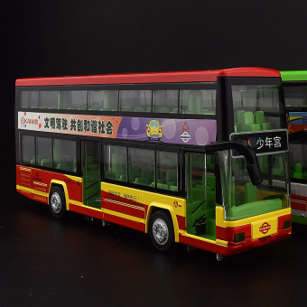 Car model alloy car double-decker bus double bus bus toy car new boy gifts