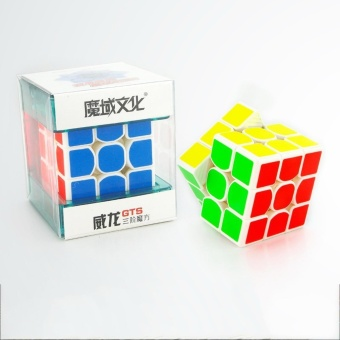 Harga Rubik's Cube - Moyu Weilong GTS Speed Cube 3x3x3 Magic Cube Puzzle Sticker(White) - intl