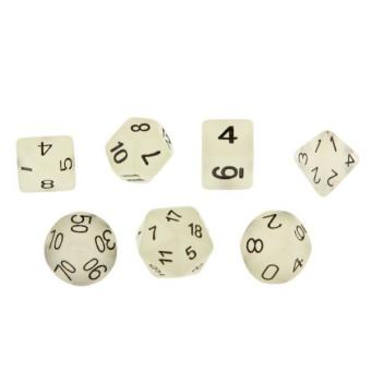 Harga BolehDeals 7pcs Glow in Dark Dice D4 D6 D8 D10 D12 D20 D&D RPG Game Set Light Green - intl