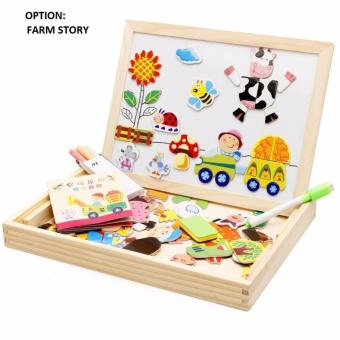 Harga 2in1 Magnetic Puzzles with 2 Ways Writing Board