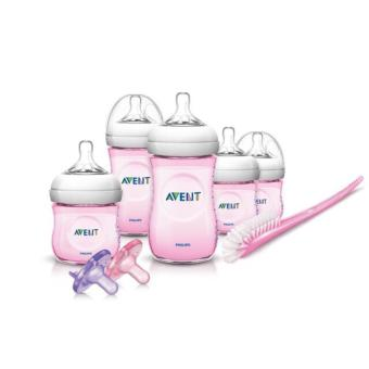Harga Philips Avent Natural Infant Baby Bottle Starter Set, Pink