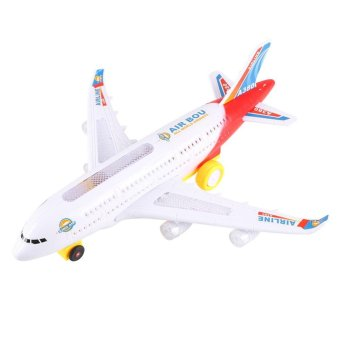 Electric Airplane Moving Flashing Lights Sounds Child Kids Aeroplane Toy - intl