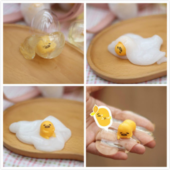 Harga 2pcs Gudetama Lazy Egg Decompression Vent Toys Creative Simulation Egg