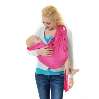 Harga Xcellent Global Baby Wrap Sling Carrier - 100% Polyester, Quick Dry, Comfortable, Lightweight, Breathable & Durable - Suitable for Newborns to 44 lbs, Best Baby Shower Gift, Pink HG121P