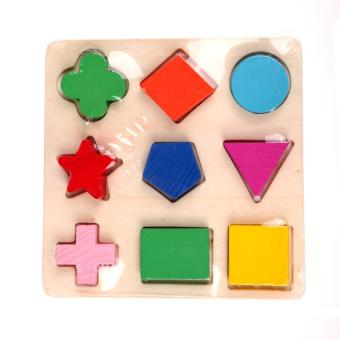 Harga Wooden fraction shape puzzle toy for Montessori early learning A63b