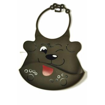 Harga Dog Silicone with Catcher Bib (Brown)