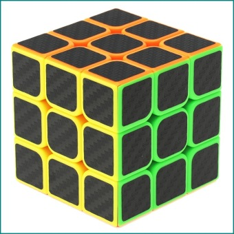 Harga Kids Magic Cube Rubik's Revenge 3X3 Cube Carbon Fiber - Intl