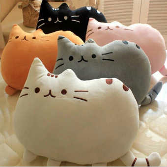 Harga 1pc 40*30cm Lovely Cat Pusheen Pillow Biscuits Kids Toys Kawaii Kids Toys Cute Plush Cushion Brinquedos - intl