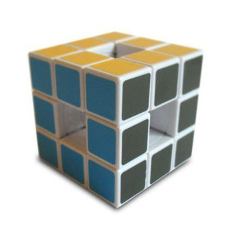Harga niceEshop 3x3 Void Puzzle Cube/Magic Cube Rubik PVC Sticker Cube,White - Intl