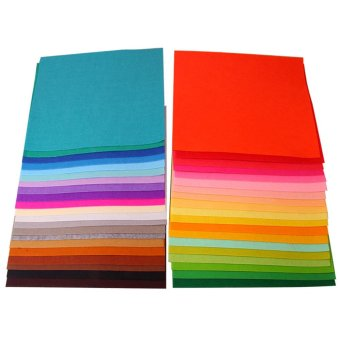 Harga 40 PCS Assorted Color DIY Craft Felt Nonwoven Fabric Sheet Square 1mm Thickness 30 x 30cm 11.81 x 11.81inch - intl