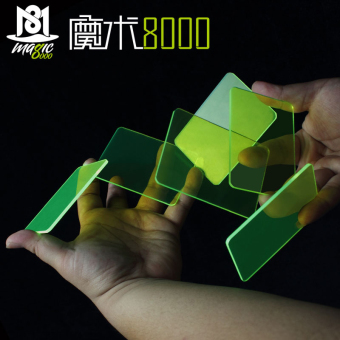 Harga Magic 8000 transparent crystal brand block Card Pass practice poker brand multicolor brand block magic props