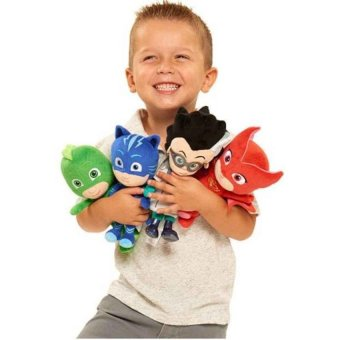 4Pcs/Set 20Cm Plush Pj Cartoon Mask Hero Cat Boy &Amp; Gekko &Amp;Owlette Movie Figure Toys - intl