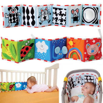 Harga Double Sided Baby Cloth Book Crib Books Clip On Pram Cot Lear Baby Toys Mobiles Toy Readings Cloth Books-style 1