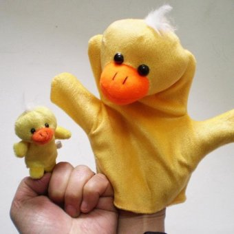 Harga 2Pcs Finger Even, Storytelling, Good Toys, Hand Puppet for Baby's Gift Yellow - intl
