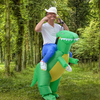 Harga Inflatable Adult Dinosaur Party Costume Dino Rider Outfits Halloween Dress