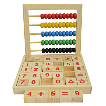 Harga Wooden Abacus Children Counting Number Maths Learning Toy (Multicolor) - intl
