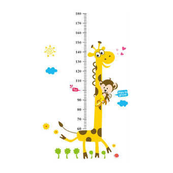 Harga Velishy Kids Height Chart Measure Giraffe Monkey Stickers