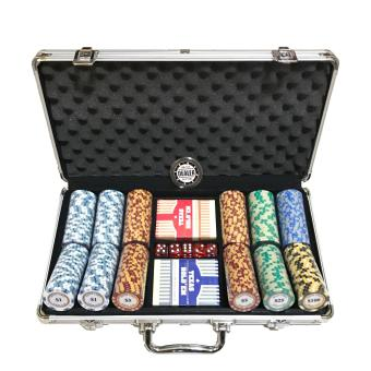 Harga Monte Carlo Gold Edition 300s Poker Chip Set with Premium Texas Holdem PVC decks