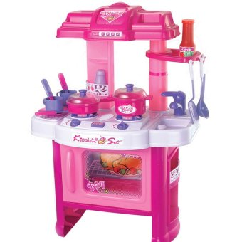 Xiong Cheng 008-26 Deluxe Beauty Kitchen Appliance Cooking Play Set Pink