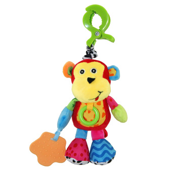 Harga Baby Plush Monkey Hanging Musical Toy with Teether