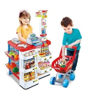 Xiong Cheng 668-01 Home Supermarket Play Set (Red)