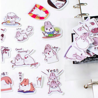 Harga 40pcs/bag Kids Cute Artoon Rabbit Stickers Children Kawaii DIY Toys Game Gifts