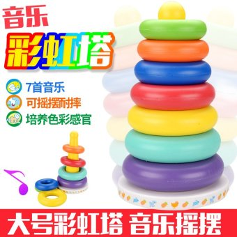 Harga Piles of music baby toys rainbow tower ring ring piles piles high baby educational toys months early childhood