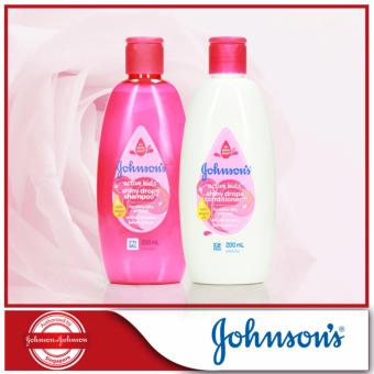 Harga Johnsons Active Kids Shiny Drops Conditioner 200ml + Shampoo 200ml