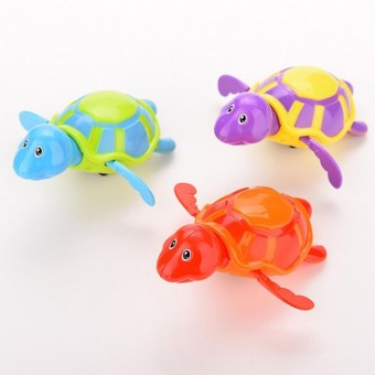 Harga High Quality Baby Toys Little Turtle Bath Toys Swimming Animal Water Toys for Boys Girls Kid Children Random - intl