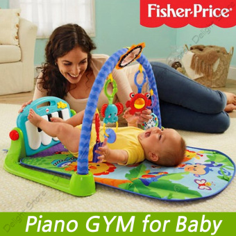 Harga Fisher Price Piano Gym Toddler GYM Giraffe Kick and Play (Pink) - intl