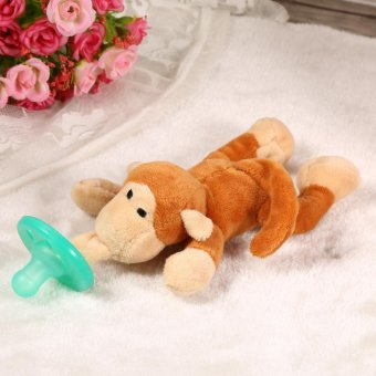 Harga Animal Design Pacifier Silicone Baby Soother # Little Monkey - intl