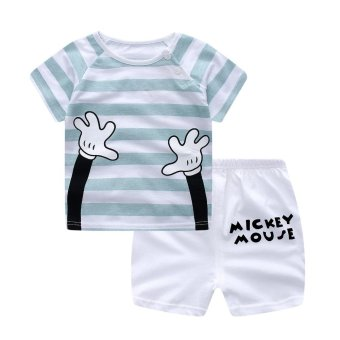 Harga Summer Baby Boy Clothing Sets Short Top + Pants 2pcs/set Cartoon Sport Suit Set Newborn Infant Cotton Clothing - Hand - intl