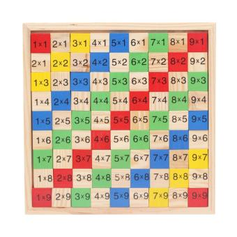 Harga WangWang Store Basic Maths Multiplications Learning Colorful Multiplication Table Blocks Wooden Educational Toys for Kids - intl