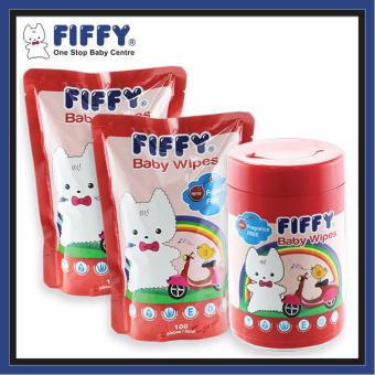 Harga FIFFY Baby Wipes Fragrance Free (1 can + 2 Refill)