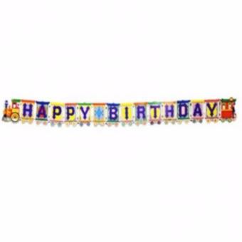 Harga Happy Birthday Banner (Train)