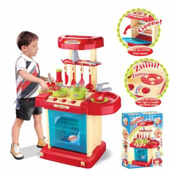 Pro Kids Simulation Kitchen Toys Children Play Toys Baby Kitchen Toys Set Cooking Pretend Role Toy Play Set Lights Sound Electronic - intl